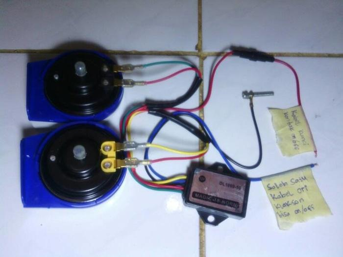 Klakson Gema 8 Suara   ( klakson motor mobil keong denso suara waterproof telolet hella polisi