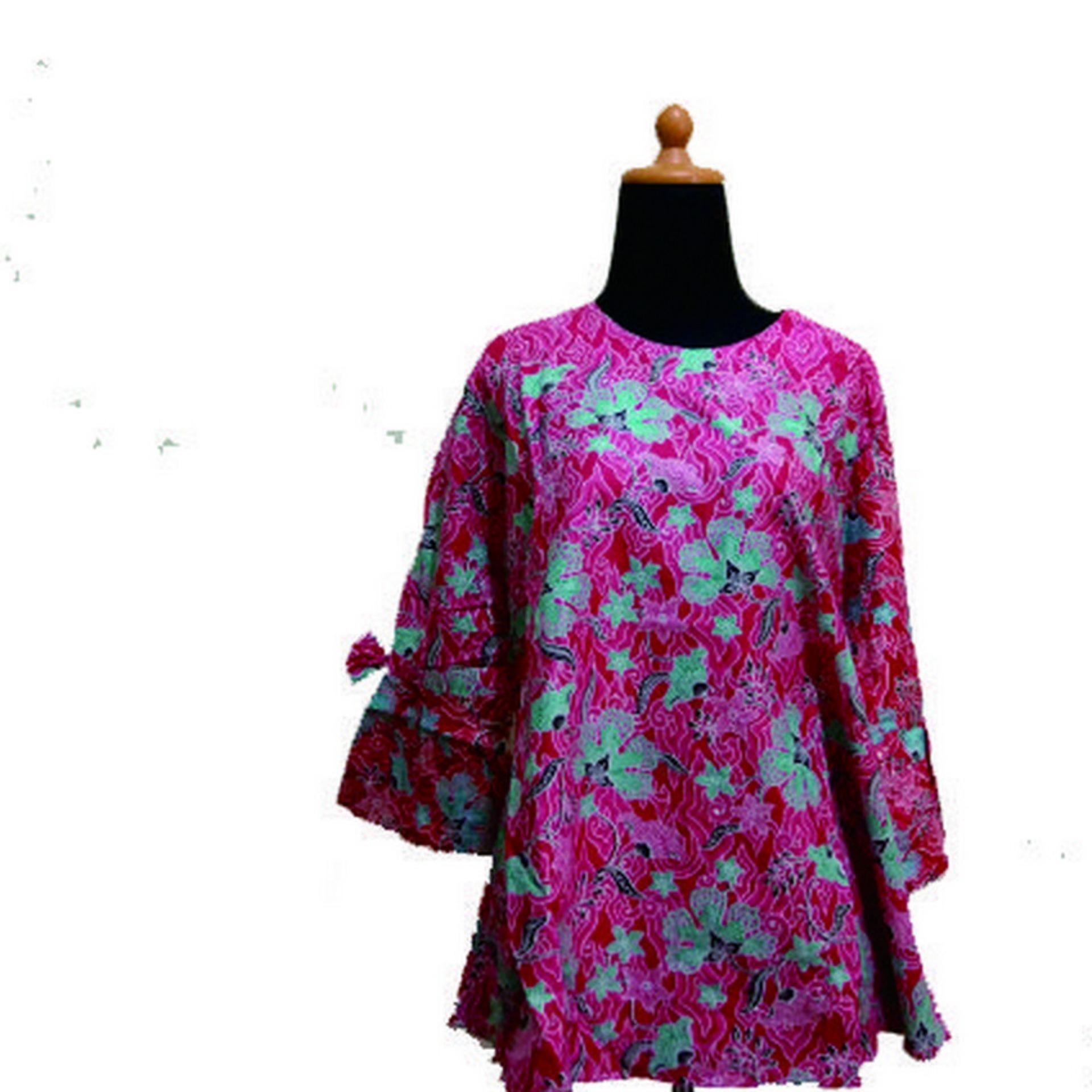 Harga Zarra Batik Baju Batik Wanita Lengan Panjang Multiwarna Termahal