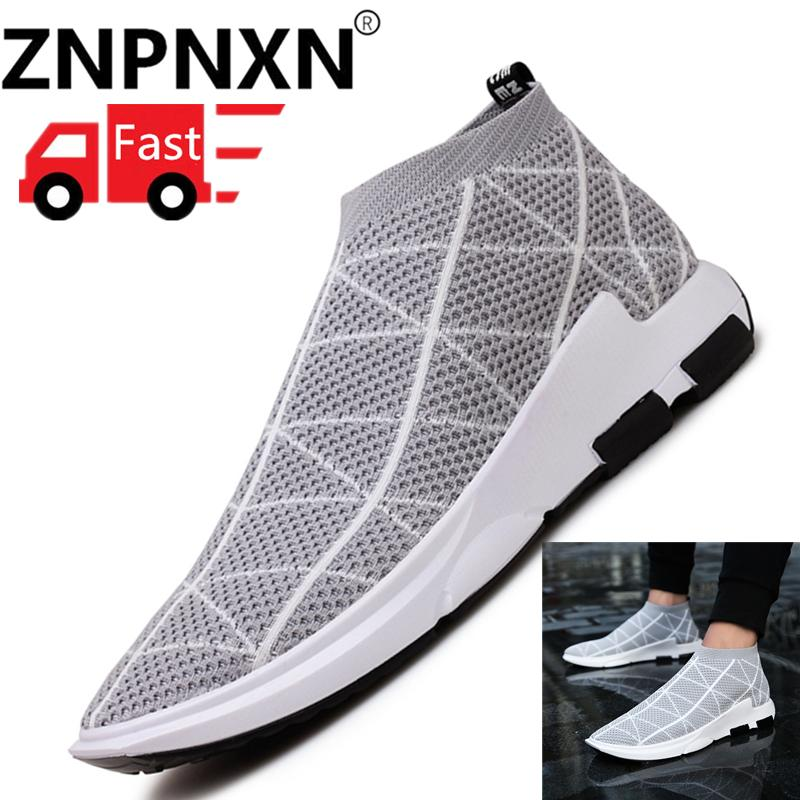 ZNPNXN Pria's Olahraga Sepatu Fashion Baru FeiNet Kain Men'S Sepatu Olahraga-Intl