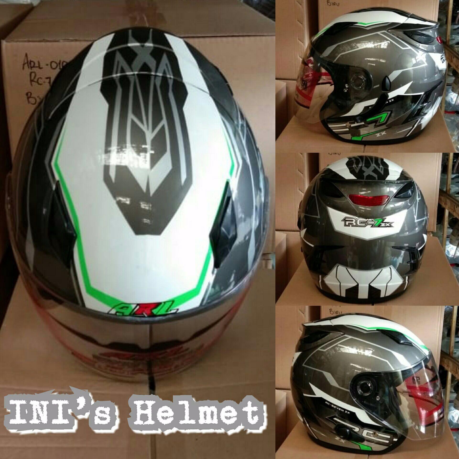 ( PROMO HELM + FREE ONGKIR ) Helm centro ARL Helmet motif double visor dan ada