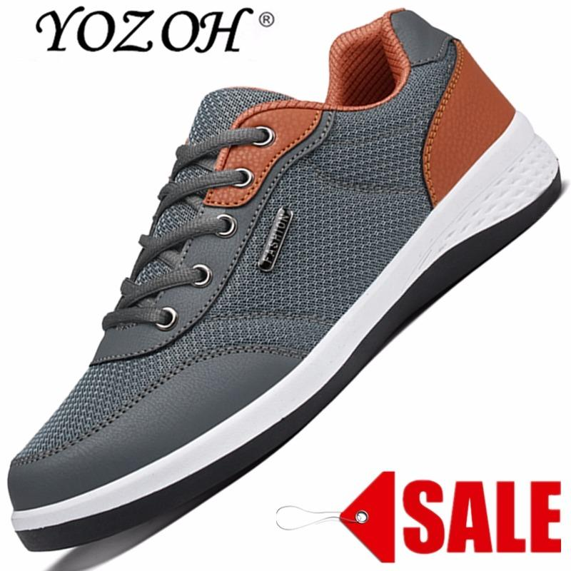 Jual Cepat Yozoh Hot Sale Menjalankan Sepatu For Pria Sneakers Sport Sneaker Murah Terang Menjalankan Breathable Slip On Grey Intl