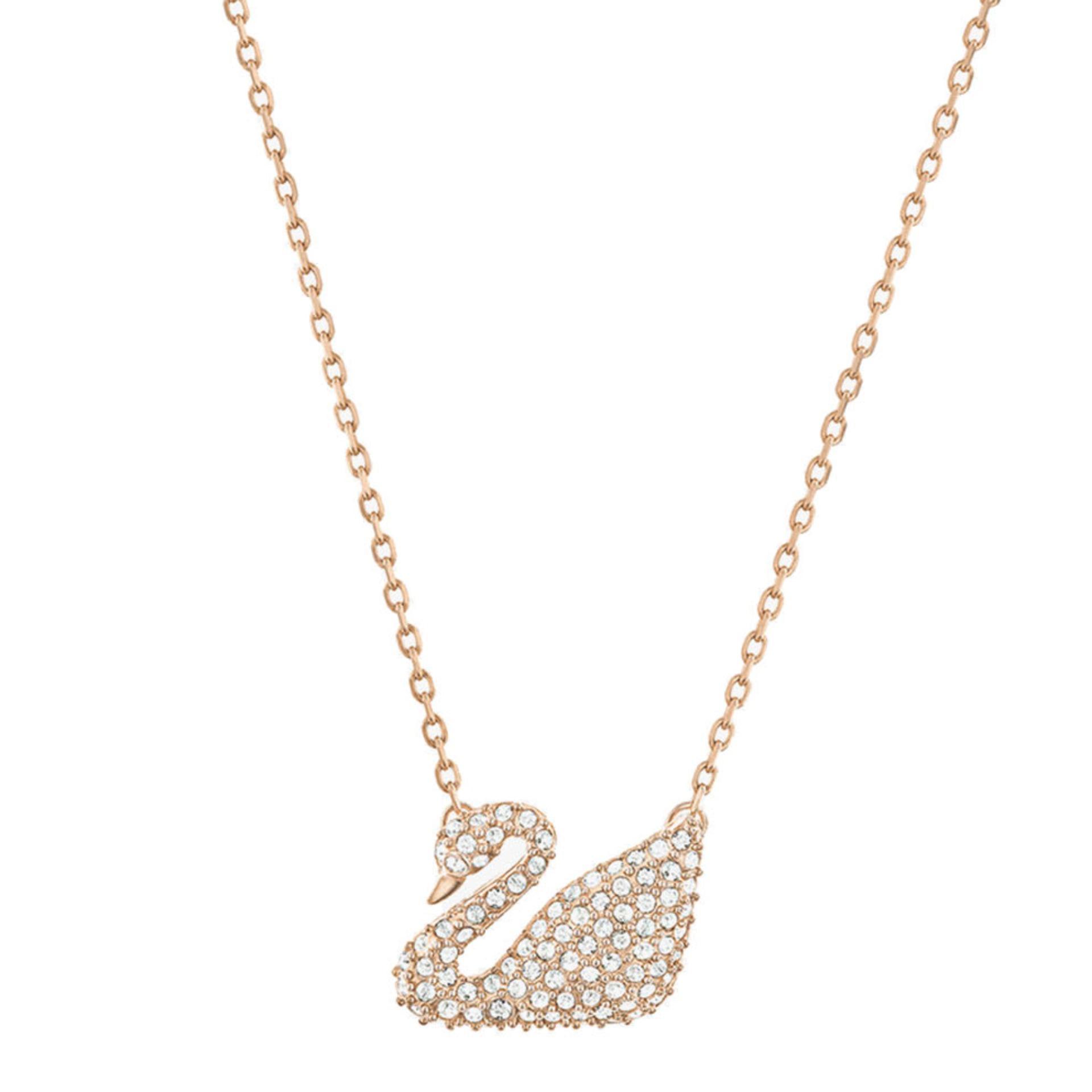 Swarovski Swan Necklace - Pink