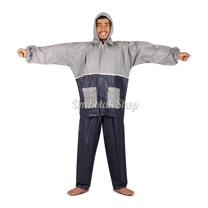 Langitbiru Jas Hujan Jaket Celana LUXURY Gajah Elephant Brand Dewasa Rain Coat