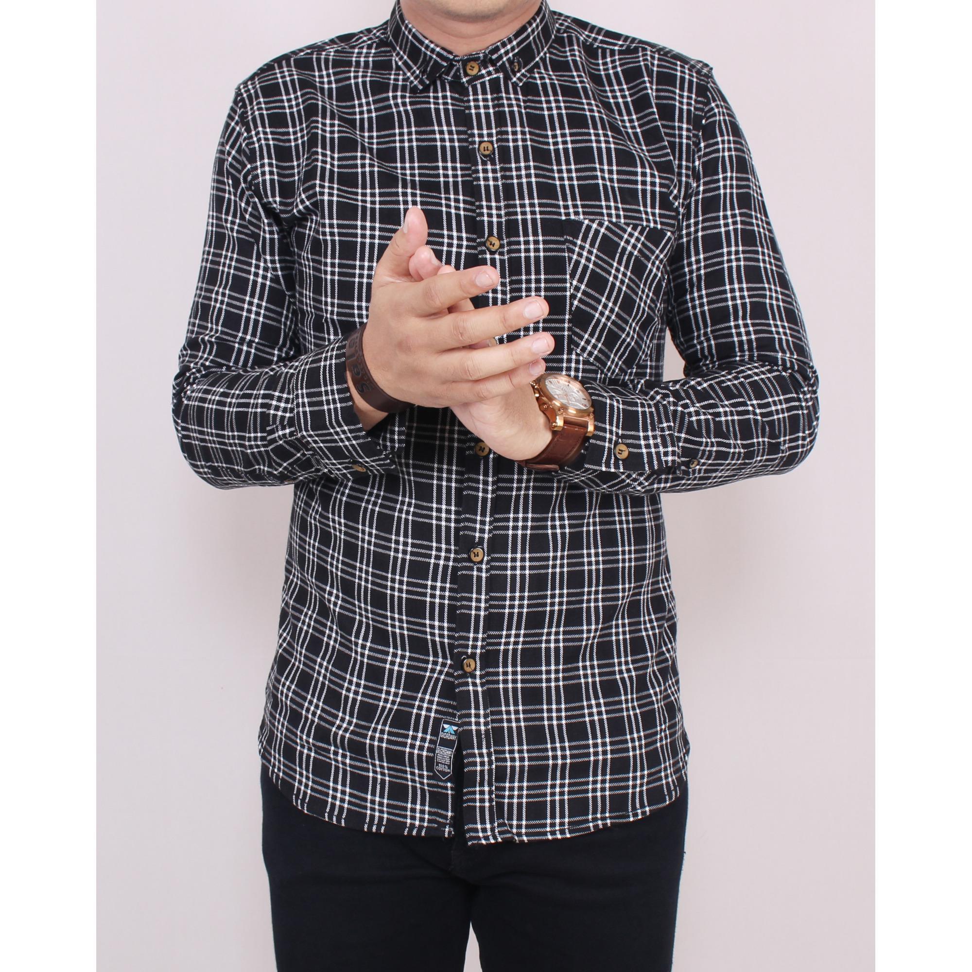 Toko Zoeystore1 5529 Kemeja Flanel Pria Lengan Panjang Exclsuive Baju Kemeja Flannel Cowok Kerja Kantoran Formal Kemeja Kotak Distro Lengkap Di Dki Jakarta