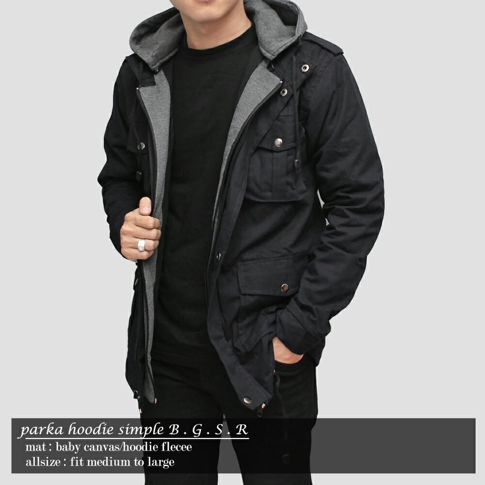 AMF jaket parka pria hoodie plece BGSR - 2 ...