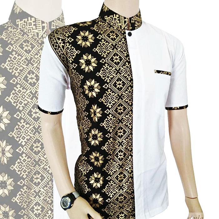 Fashion Pria Baju Koko Kemeja Batik