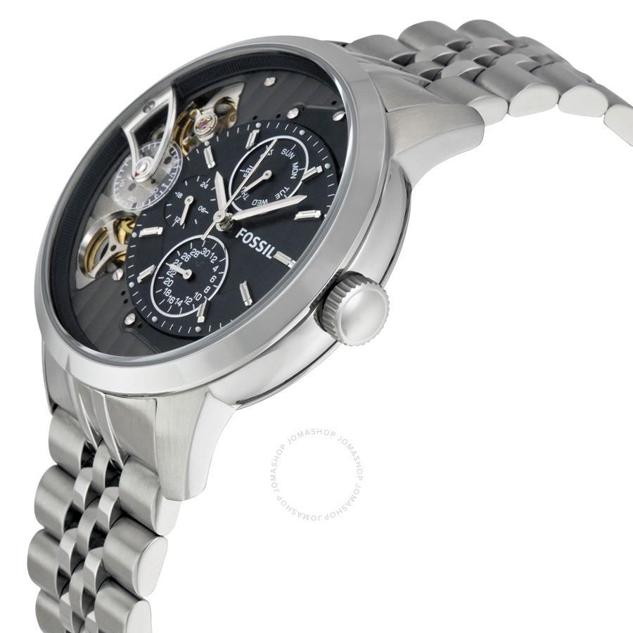 Fossil Jam Tangan Pria Fs4662 Machine Chronograph Fs5075 Leather Strap Silver Detail Gambar Spesial Me1135 Townsman Black Dial Stainless Steel Bracelet Watch