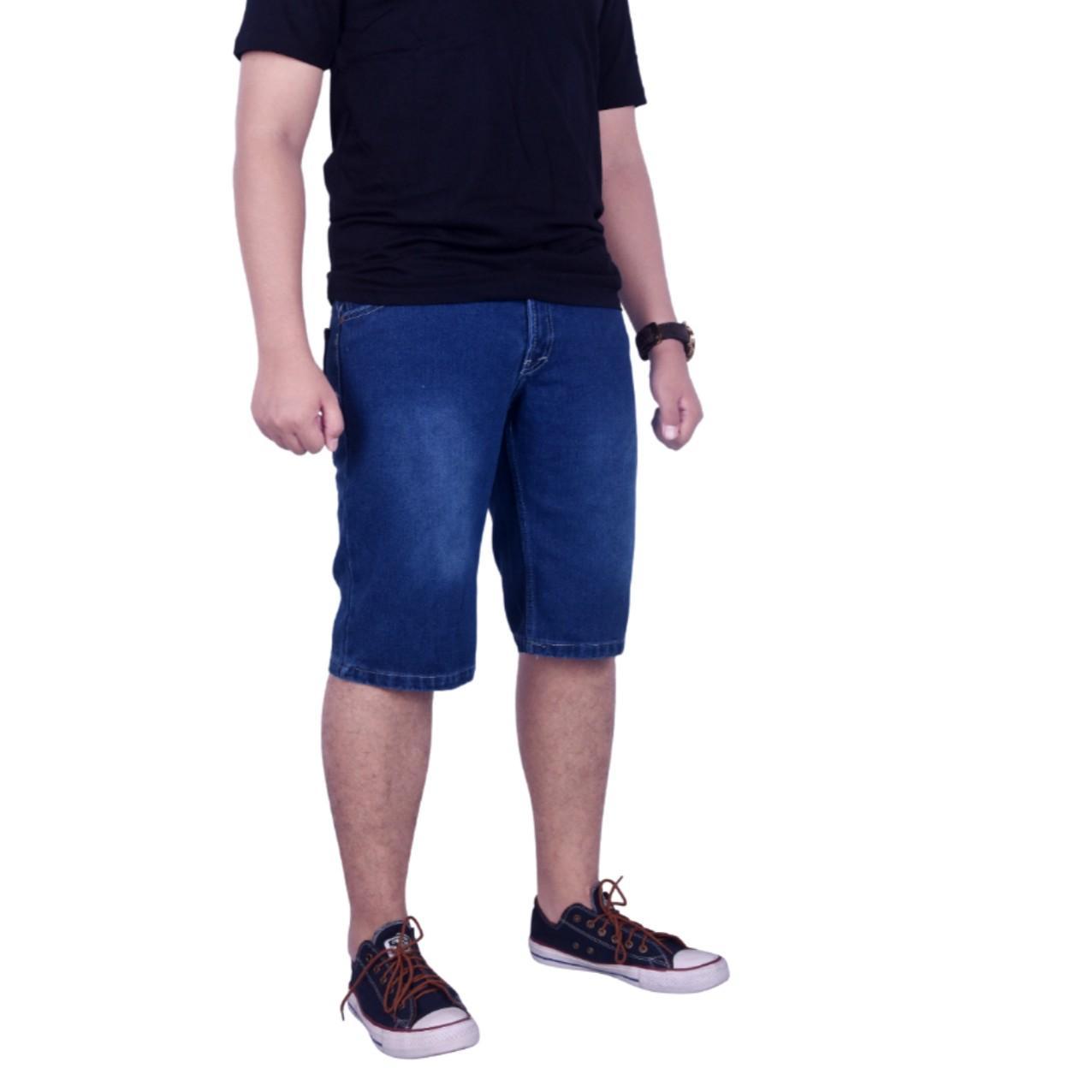 Dgm_Fashion1 Jeans Pendek Jumbo Biru Washing /Jeans Pendek Denim Jumbo /Celana lepis/Celana Jeans Skinny Pria/Celana Panjang/ Celana Pria/Celana Casual/celana denim/celana jeans gede/jeans besar /CELANA JEANS big size/Celana Big Size/Jeans Gendut GI 5907 - 2