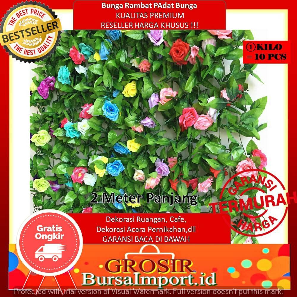 (READY)16 Warna BUNGA RAMBAT BUNGA Dekorasi Ruangan Bunga Artifisial Bunga Palsu