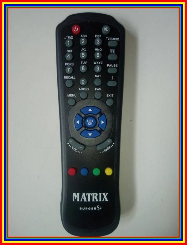 Remot Remote Parabola Receiver Matrix Burger S2 Ori Original Asli