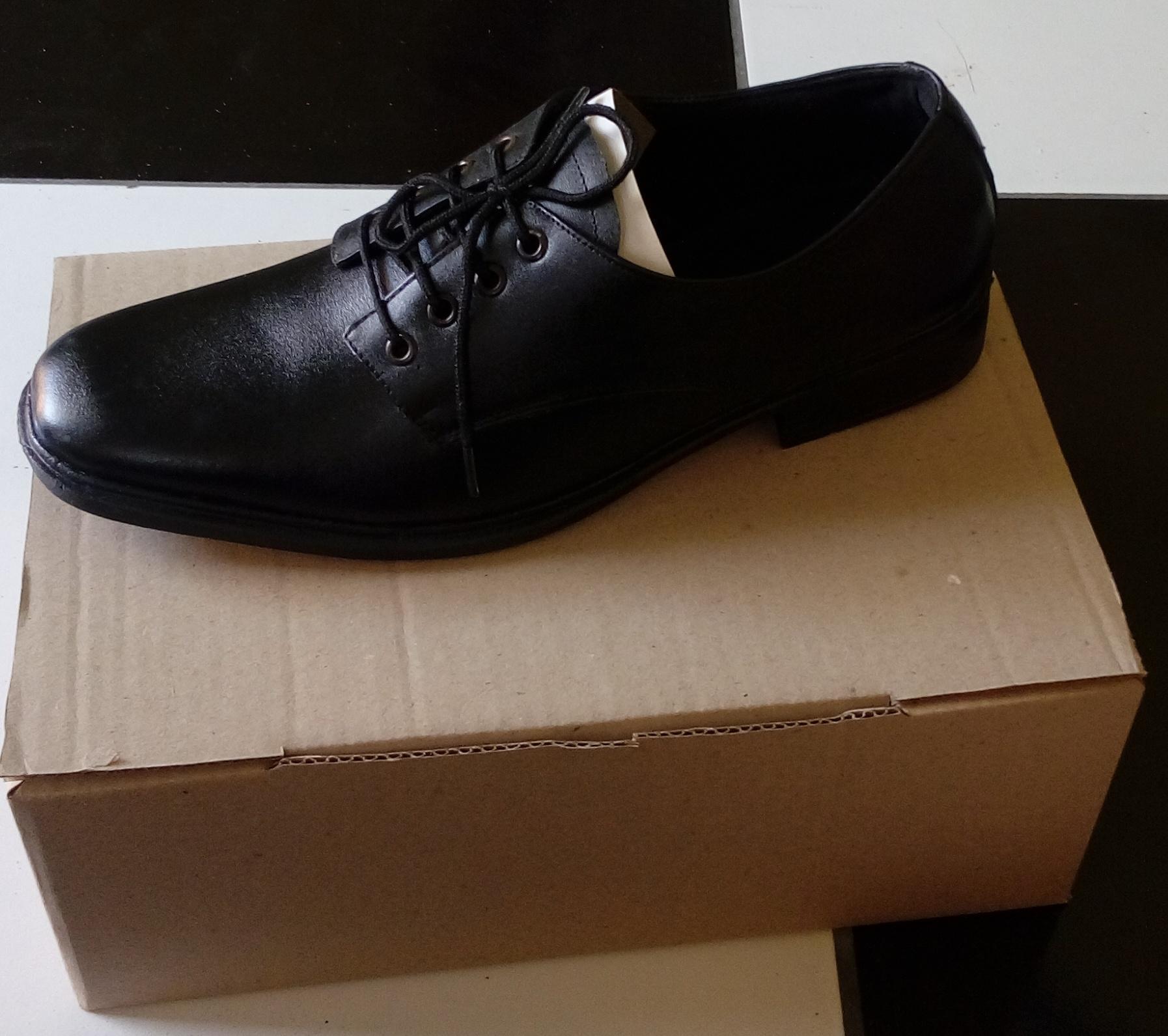 Sepatu kulit asli sepatu kerja sepatu sekolah pria bertali sepatu pantofel