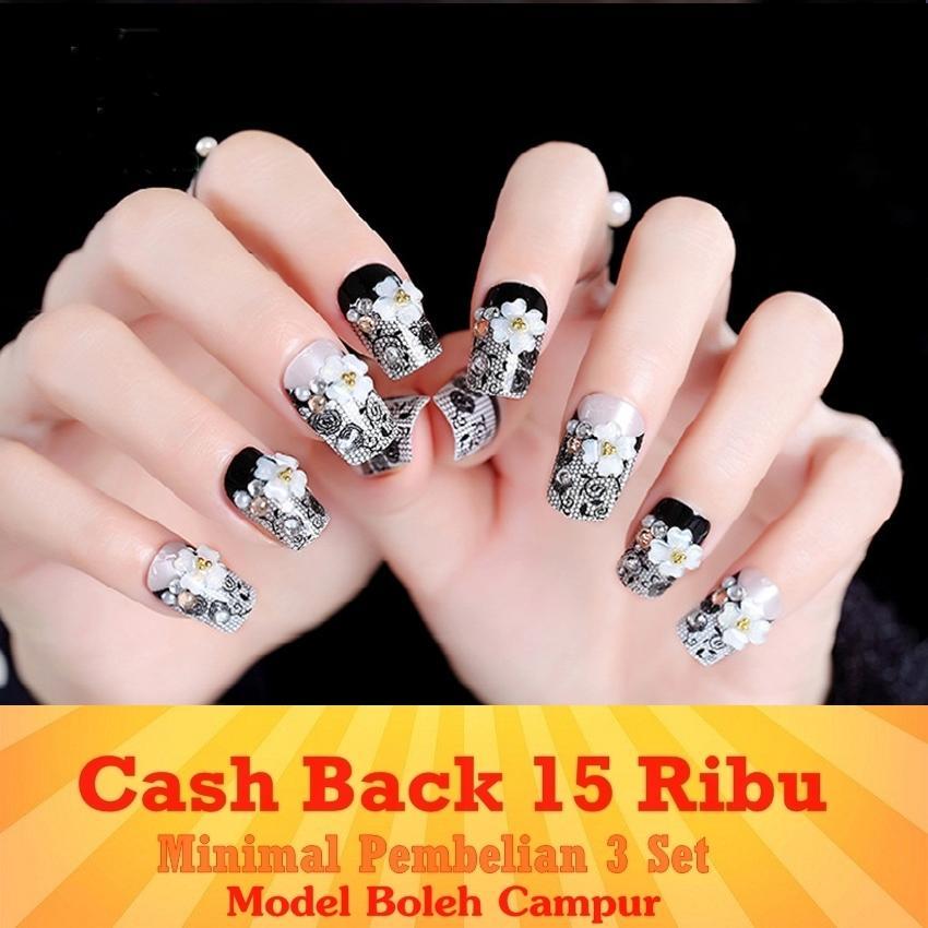 JBS Nails kuku palsu wedding 3D - A48