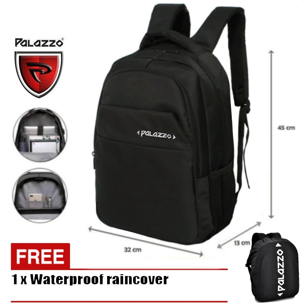Tips Beli Palazzo Tas Laptop Tas Ransel 300220 New Design Berkualitas Original Black Raincover