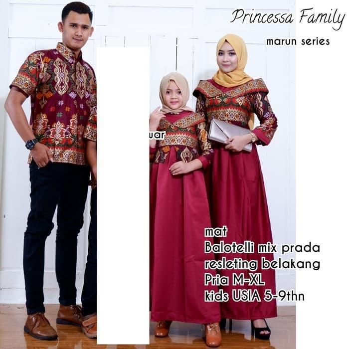 Fitur Batik Couple Sarimbit Keluarga Princessa Ayah Ibu Gamis Anak
