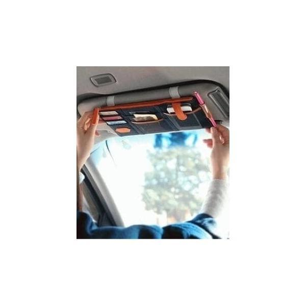 ... Sun Visor Mobil Car Organizer Simpan Uang -Kartu- HP- Tiket Tol Karcis -