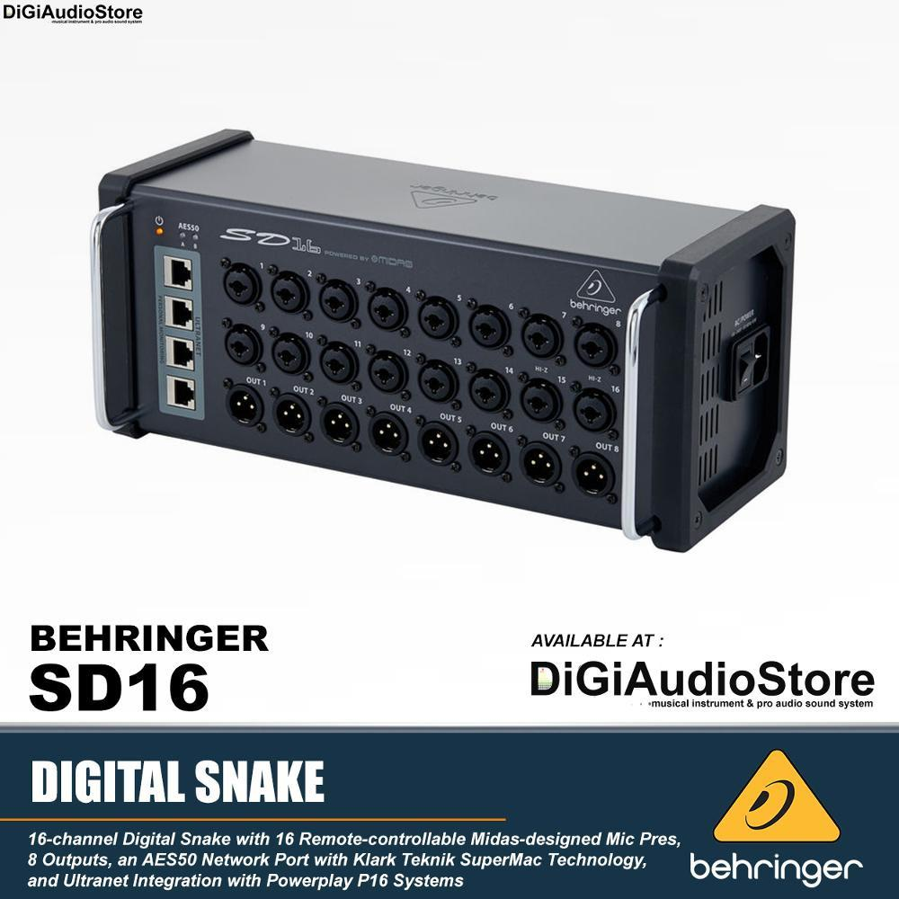 Behringer SD16 Digital Stage Box with 16 Preamp Midas / Digital Mixer