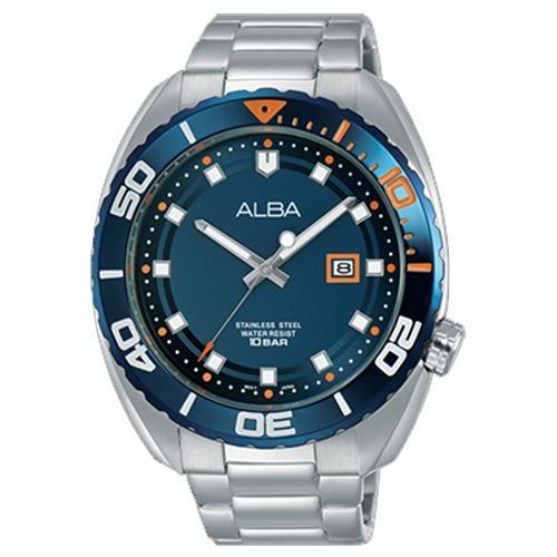 Alba - Jam Tangan Pria - Silver - Stainless Steel - AG8H43