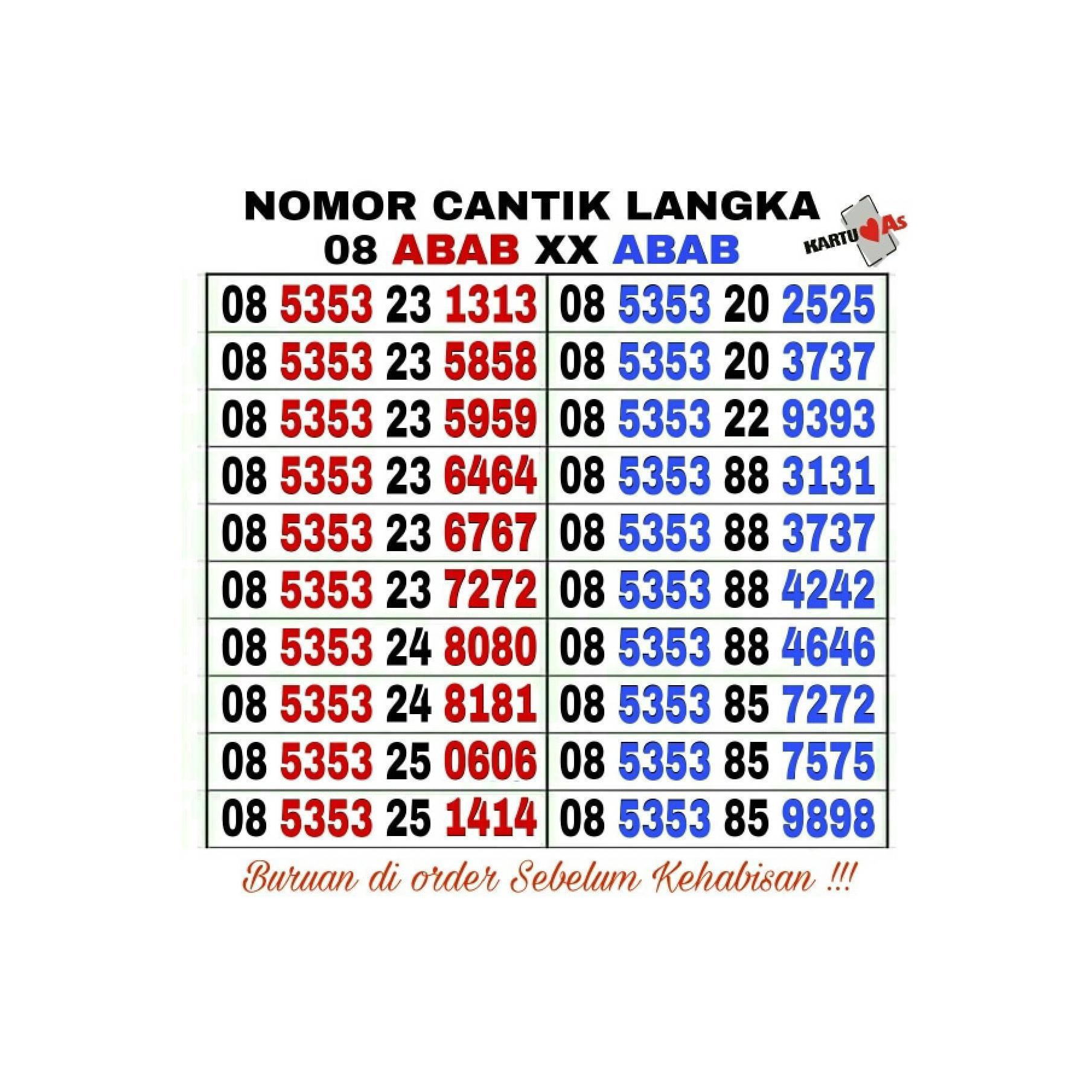 Cek Harga Baru Nomor Cantik Kartu Perdana No Telkomsel As Tsel Kuota 9gb Gambar Produk Rinci Indosat Im3 Xl Axis Terkini