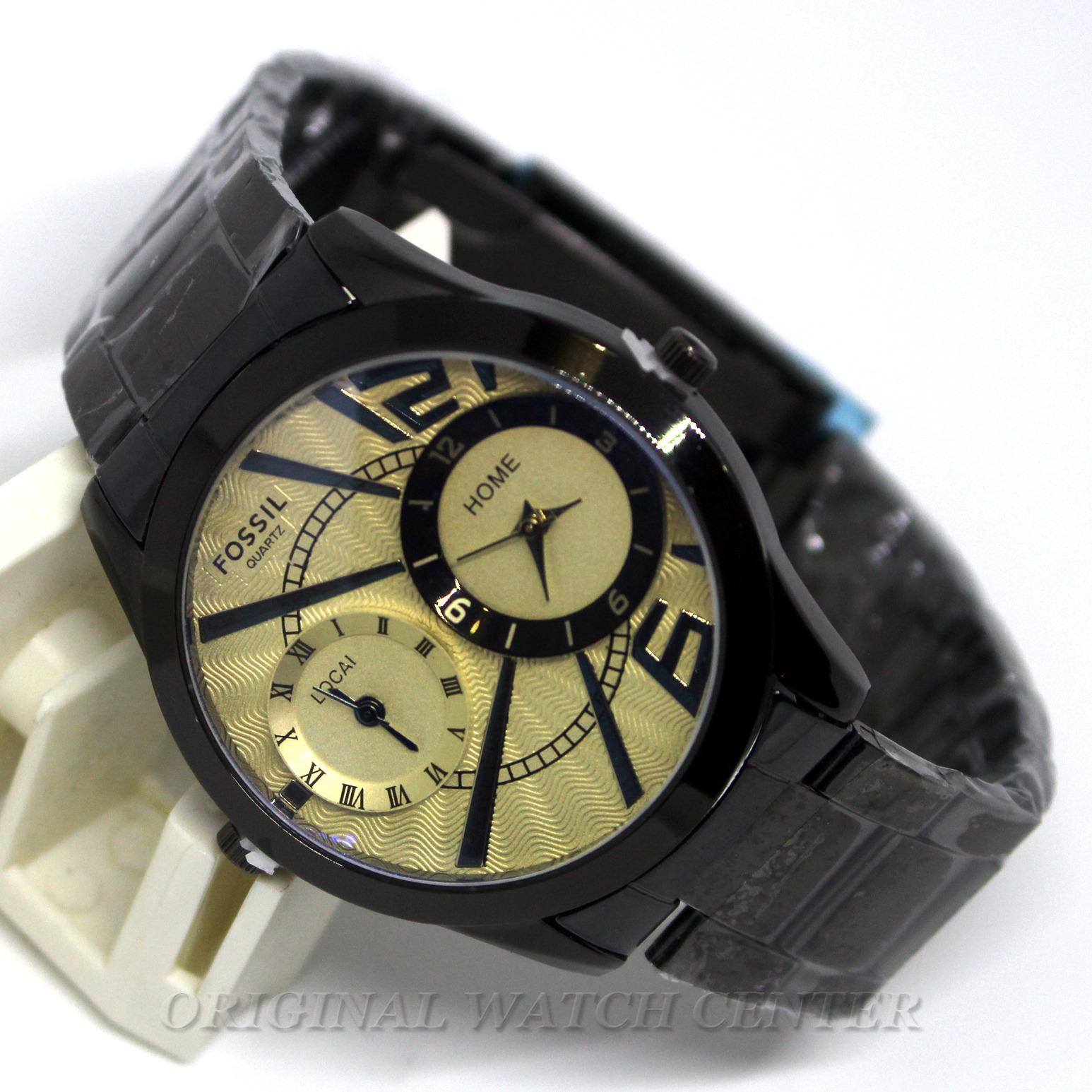 Kehebatan Fossil Me3029 Jam Tangan Fashion Pria Elegant Fiture Me3043 Original Dual Time Quartz Stainless Steel