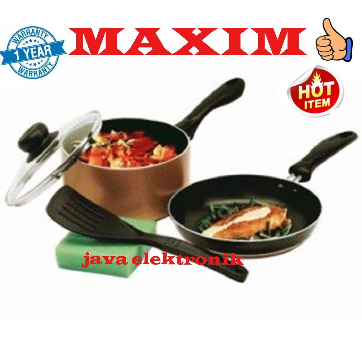 Maxim Wajan Venice Set - teflon - Black Gold
