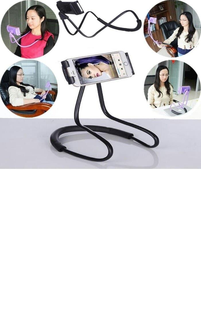 Lazy neck cell phone stan mount necklace / holder HP leher