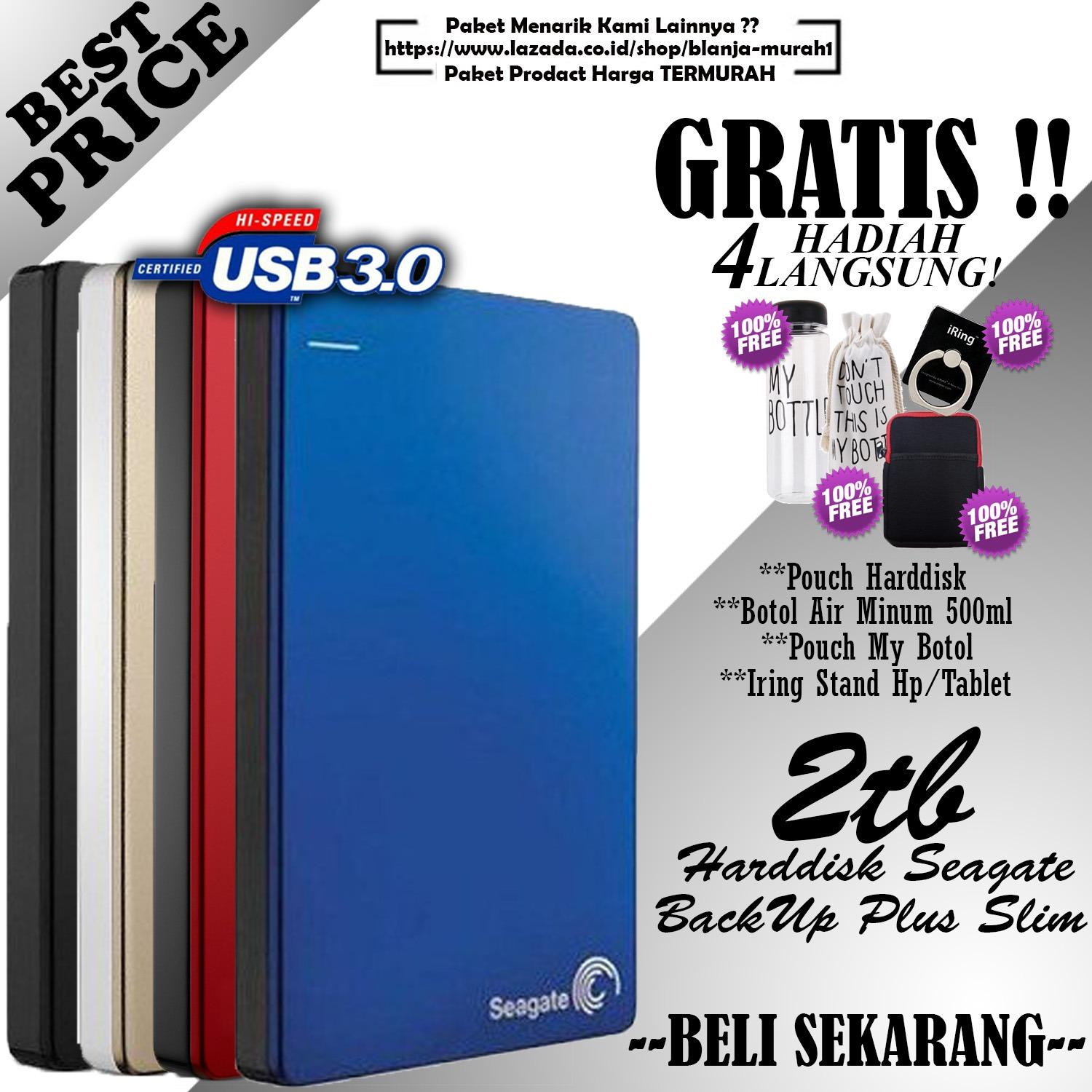 Jual Seagate Backup Plus Slim 2Tb Hdd Hd Hardisk External 2 5 Gratis Pouch Harddisk Ext My Botol Air Minum 500Ml Sarung Pouch My Bottle Iring Stand Hp Tablet Import