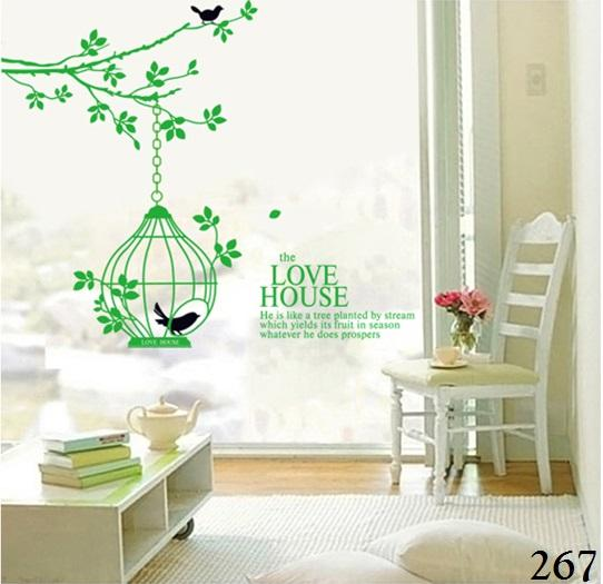 Detail Gambar Wallsticker / Wall Sticker / Wallstiker / Wall Stiker / Stiker Dinding / Hiasan Dinding 267 Love House Terbaru