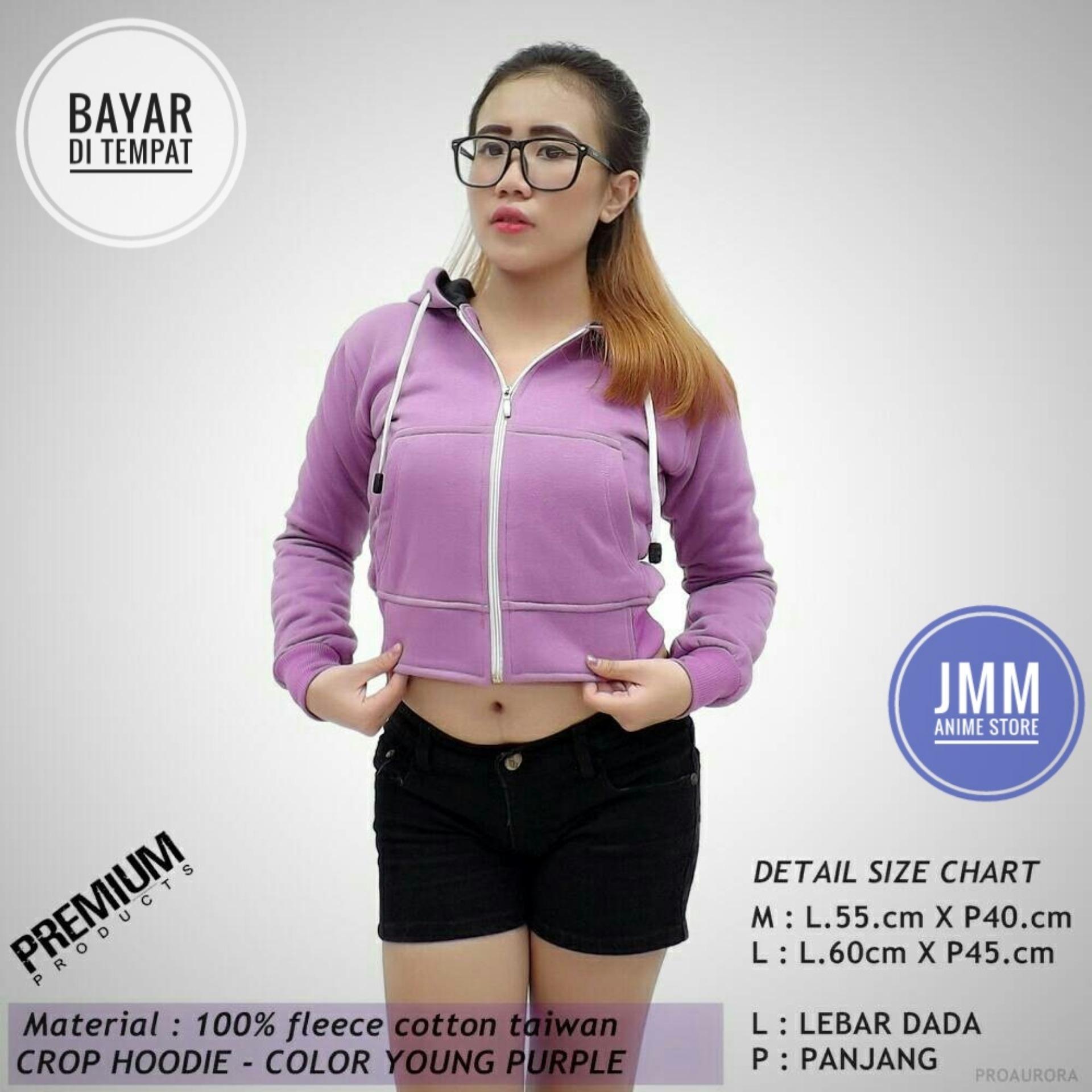 Jaket Sweater Crop Hoodie Young Purple - JMM Best Seller