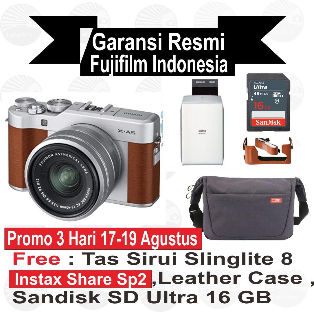 Kelebihan Fujifilm Xa10 Kit 16 50 Mm Silver Mirrorless Terkini X T20 With 50mm 230mm Instax Share Sp 2 A5 15 45 Xa5 Resmi Indonesia