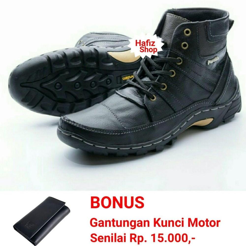 Harga Sepatu Boots Pria Touring Casual Kulit Asli Hand Made Model Rhezu Terbaru Original