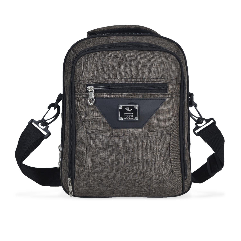 Detail Gambar Tas Selempang Classic Canvas Gress (polo series) Messenger Shoulder Bag Coklat Terbaru