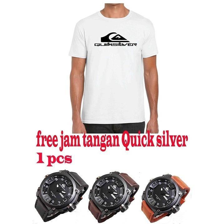 Beli Kaos Distro Limit Edition Gratis Jam Tangan Casual Pria Yang Bagus
