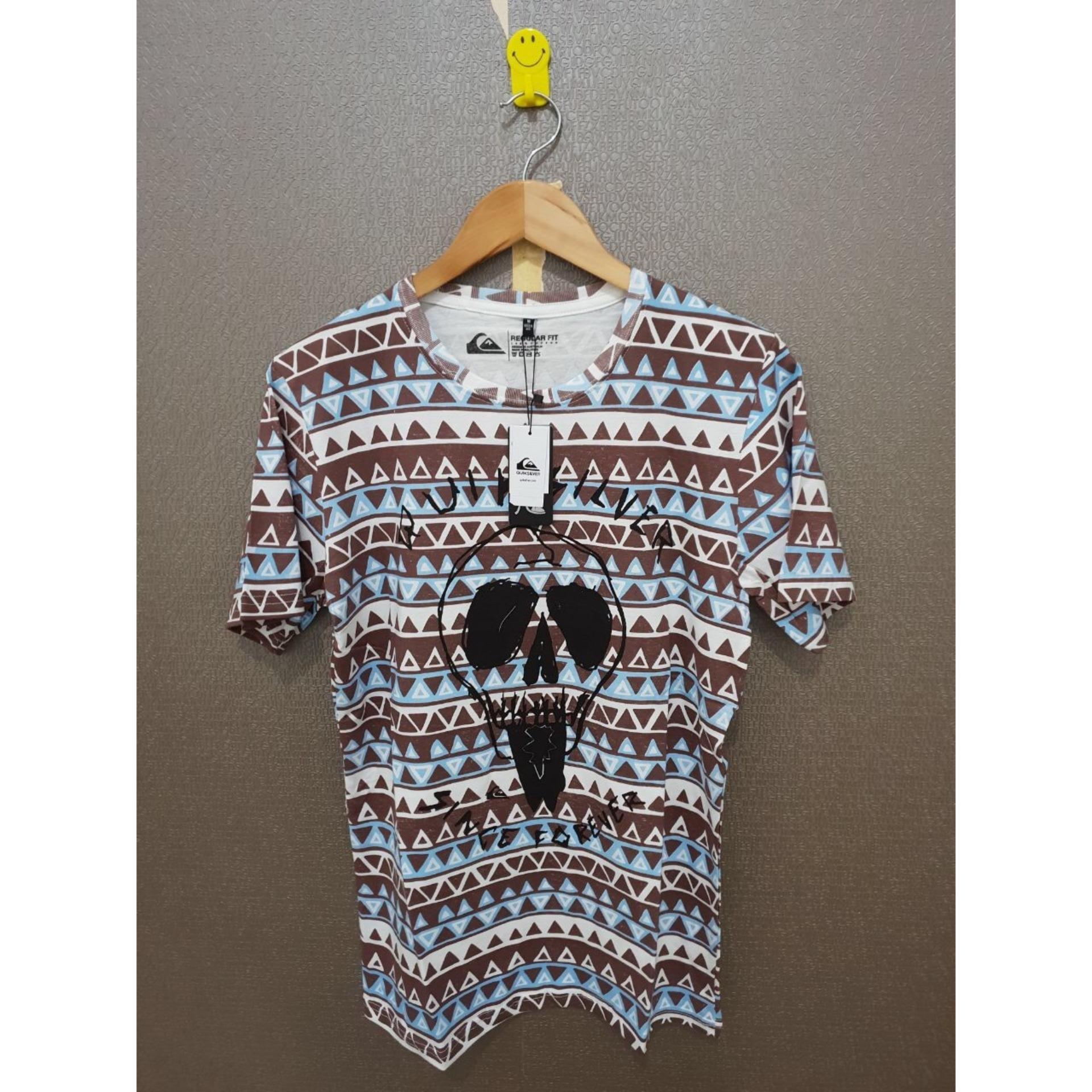 Cek Harga Baru Tshirt Quiksilver Baju Kaos Lengan Panjang Quicksilver Kemeja Original Coklat Distro Surfing E11 C7