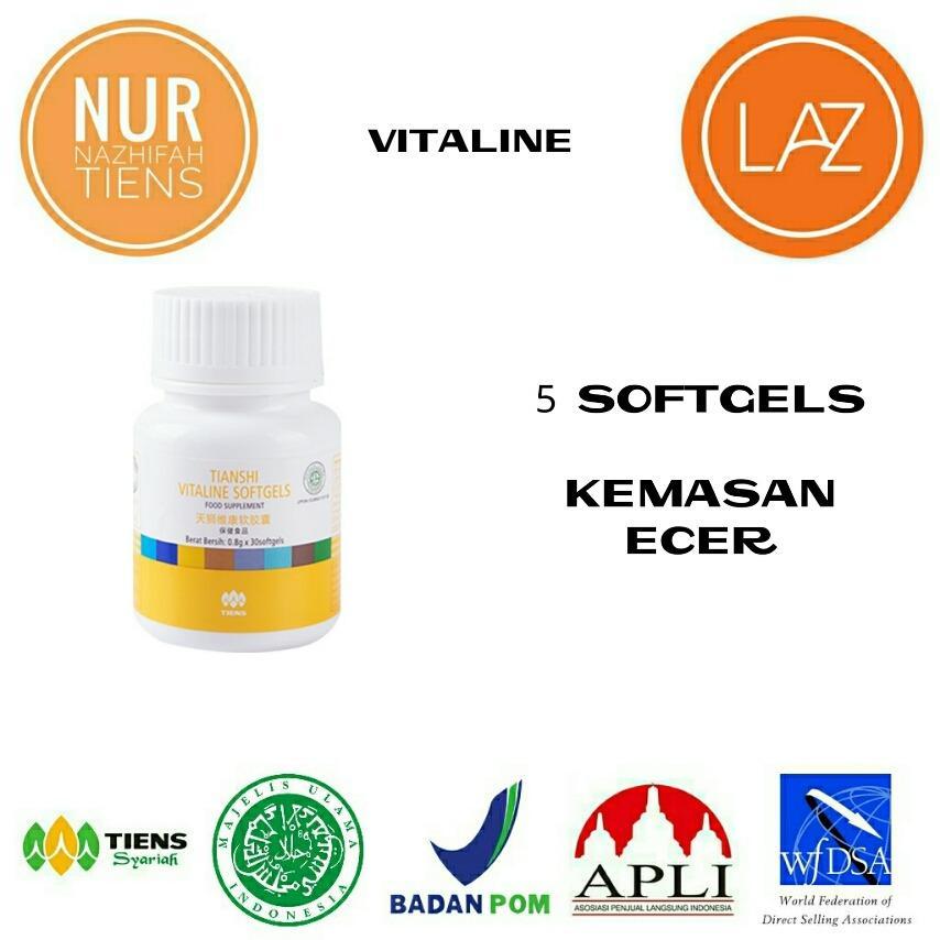 NN Tiens Vitaline Serum kulit dan suplemen pemutih Vitamin E terbaik , paket 5 softgels
