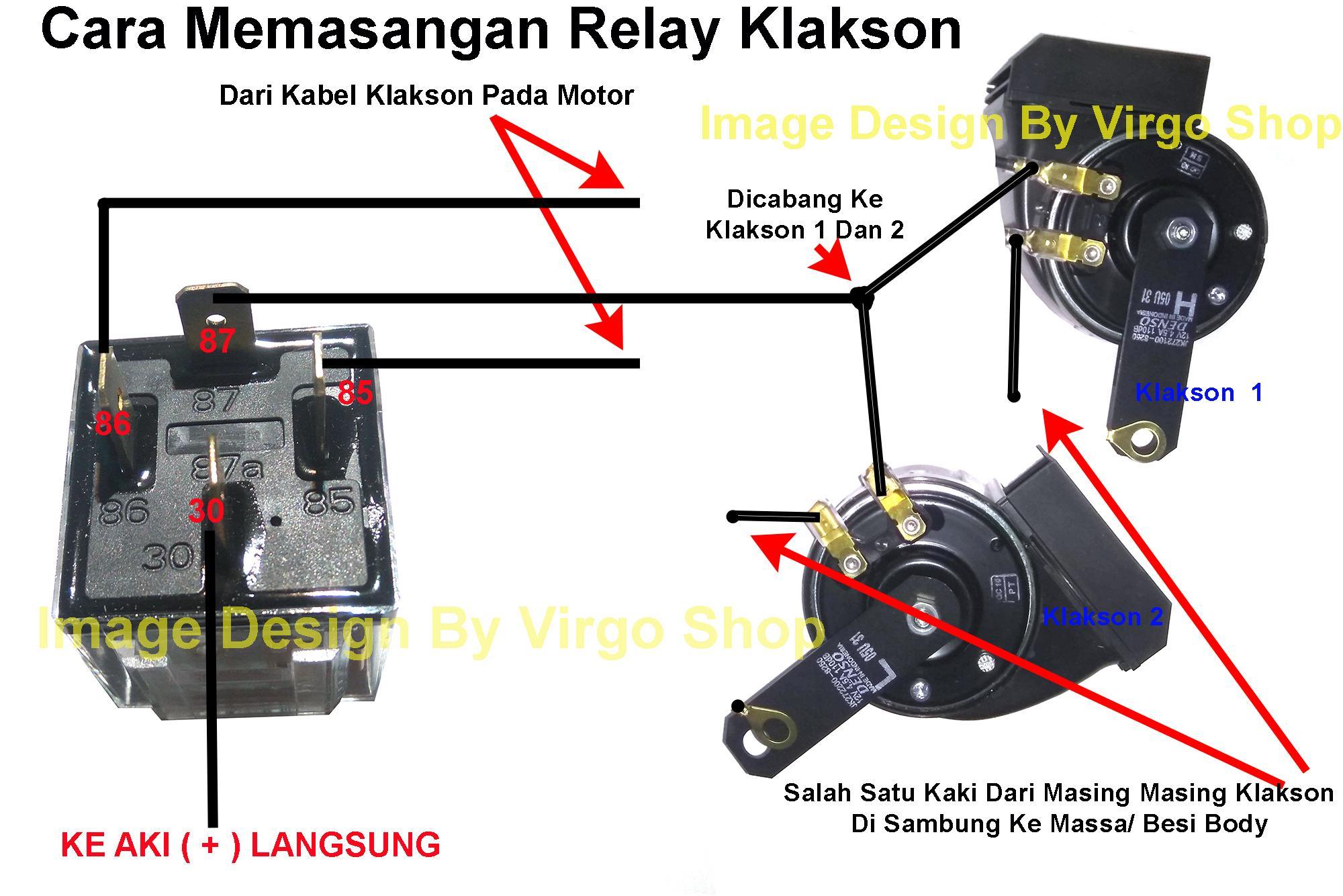 Denso tipe272000 klakson keong 12v waterproofanti air gratis wiring relay klaksong ccuart Images