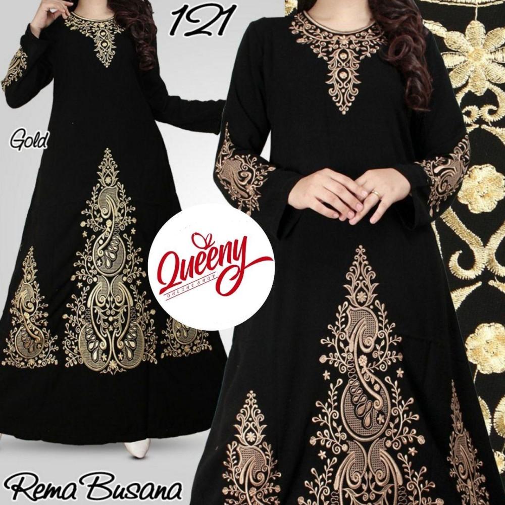 gamis abaya hitam arab - fashion muslimah - abaya modern 121