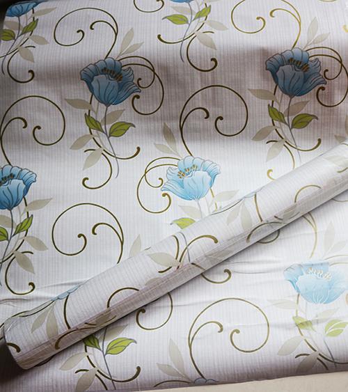 Stiker Wallpaper Dinding - Elegant Wallpaper Sticker (Size 45cm X 10M) - Bunga Biru