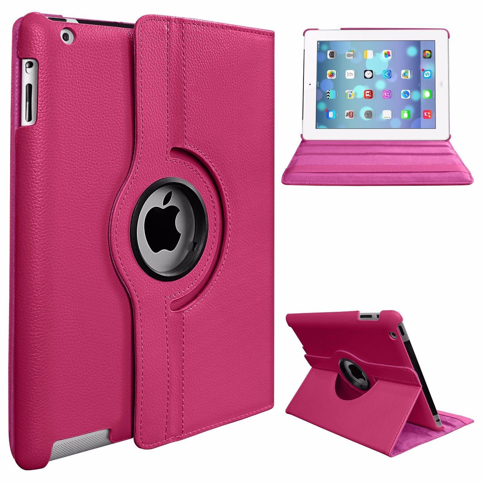 PU Kulit Pintar Dudukan Lipat Case Sarung untuk Apple iPad Mini 4 360 Rotasi Tablet Penuh
