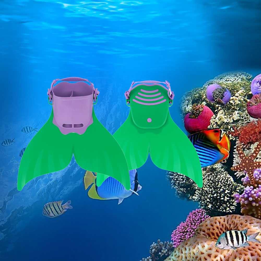 Fitur Termurah Kaki Katak Mermaid Swimming Fin Anak Aneka Sepatu Seal Berenang Duyung