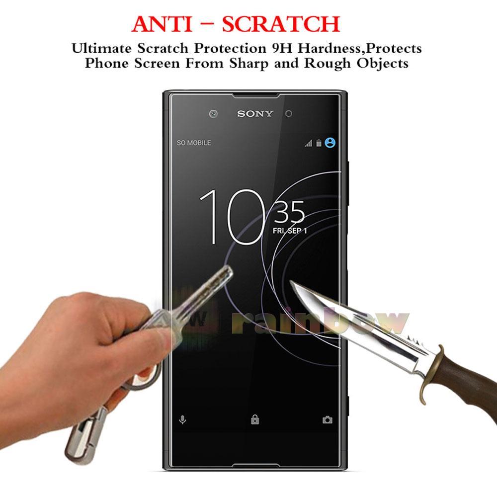 Ranmel Glass Tempered For Sony Xperia Z1 Depan Dan Belakang Anti Gores Kaca Compact Mini Rainbow Xa1 Ultra Screen Protector Temper