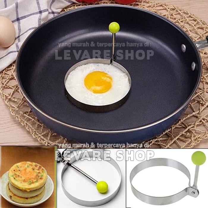 BEST SELLER Cetakan Telur Telor Mata Sapi Omelet Pancake - Bentuk Bulat - Tqczrwxe