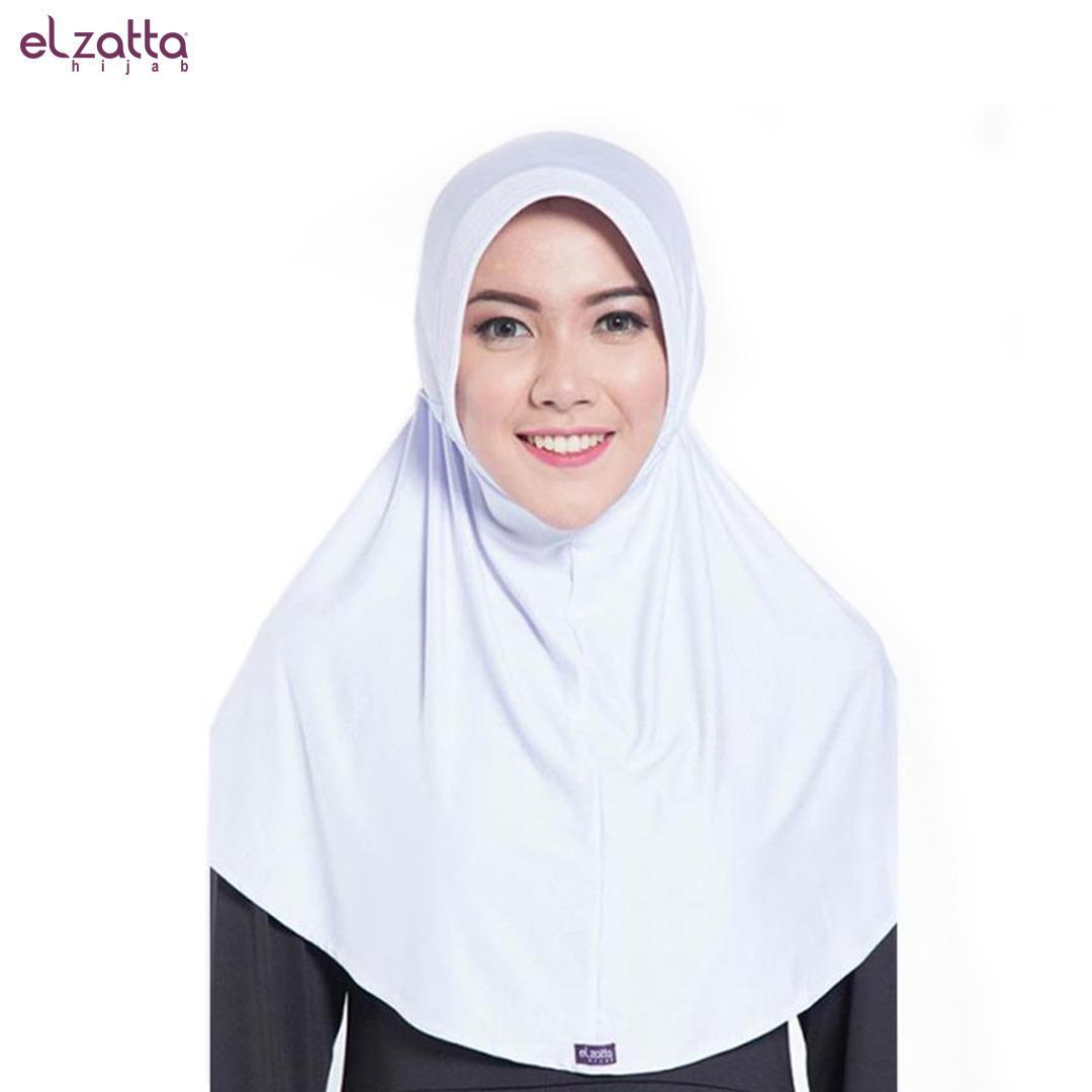 Elzatta Hijab / Hijab / Hijab Instan / Bergo / Elzatta Basic / E001 PUTIH