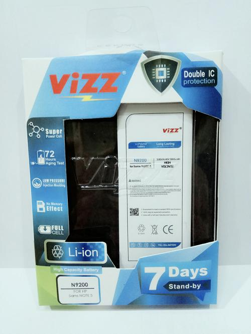 Vizz Baterai Batre Battery Batt Double Power Vizz Samsung Note 5 N9200 3000 Mah