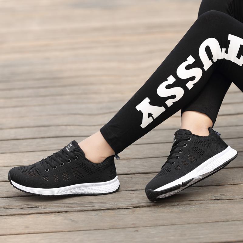 QINGSHUI Women Fashion Sneakers Breathable Mesh Womens Running Shoes Lightweight Sport Shoes Women Jogging Walking Shoes - intl - 3