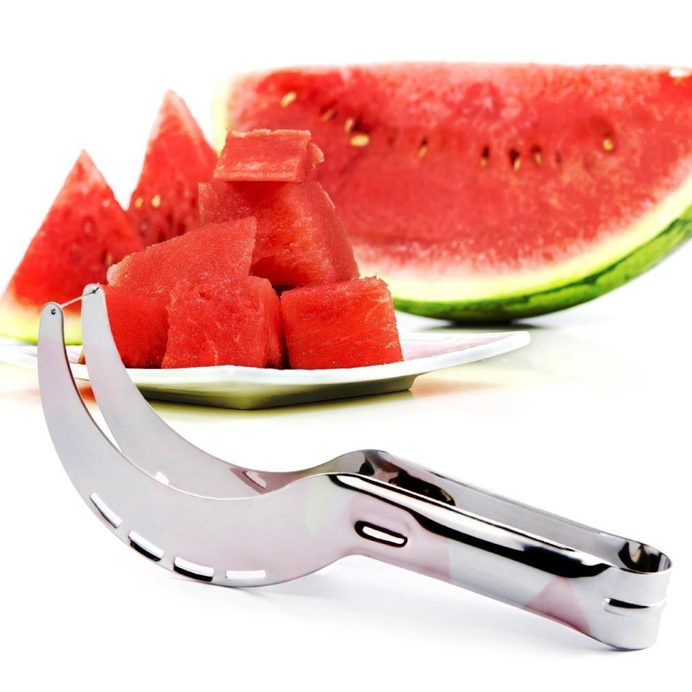 Spesifikasi High Quality Pisau Semangka Watermelon Slicer Pisau Buah Iris Stainless Steel Lengkap