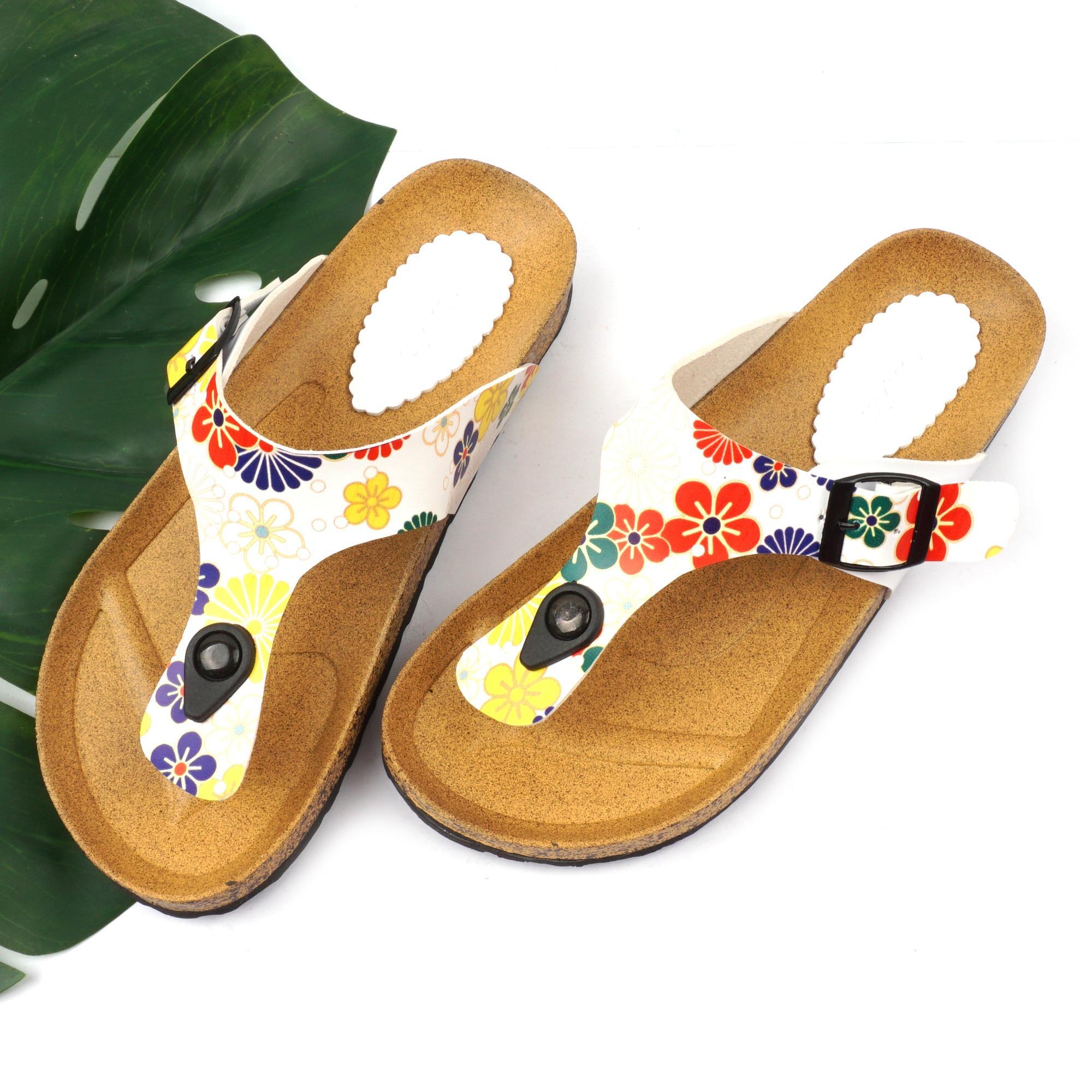 Harga Pluvia Florida Sandal Flat Jepit Flip Flops Footbed Wanita Santai Pantai Lo22 Yang Murah