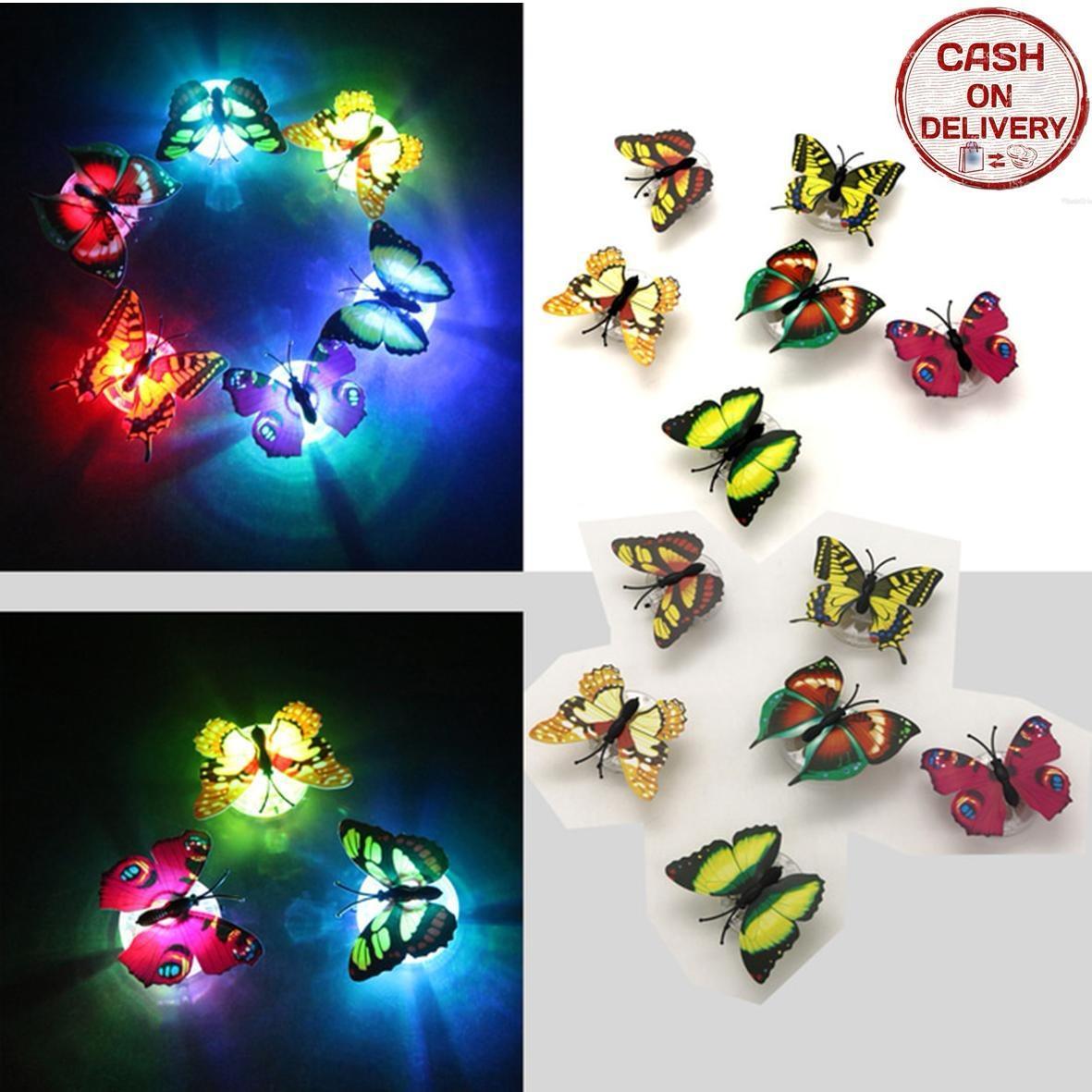 Kado Unik-- Lampu Kupu Led Dekorasi Kamar / Butterfly Night Light / Lampu Kamar Tidur / Lampu Led / Lampu Led Hias Kamar / Lampu Led Glow In The Dark / Lampu Kamar Tidur Murah