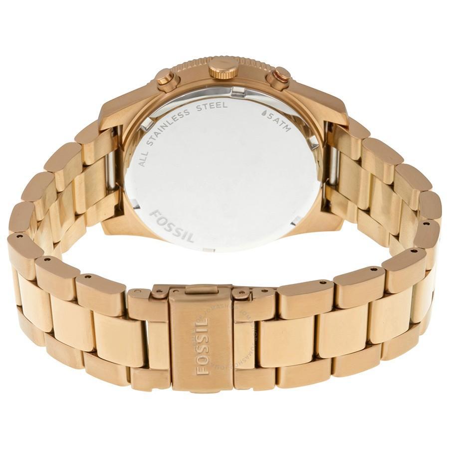 Fitur Fossil Jam Tangan Wanita Spesial Es3885 3884 Ladies Perfect Original Es4093 Boyfriend Blue Multfunction Rose Gold Dial