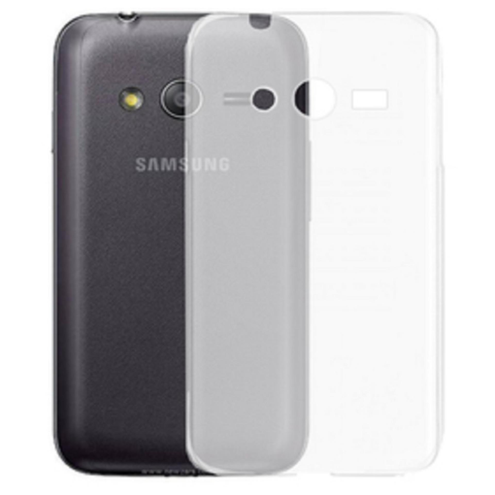 Bendoel Aircase for Samsung Galaxy V / V+ Plus / Ace 4 / G313 / Duos | Softcase Ultrathin Anti Crash - Putih Transparan
