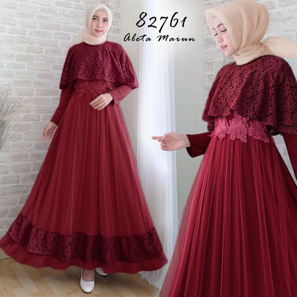 Fitur Moslemwear Gamis Pesta Premium Mewah Glamour Elegan Bordir
